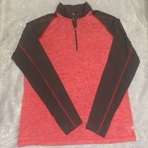 Other - NWOT ~ Nordictrack Tech shirt with Zip Red&Black